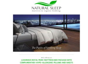 Natural Sleep Organic Mattress help people sleep better, longer, deeper.