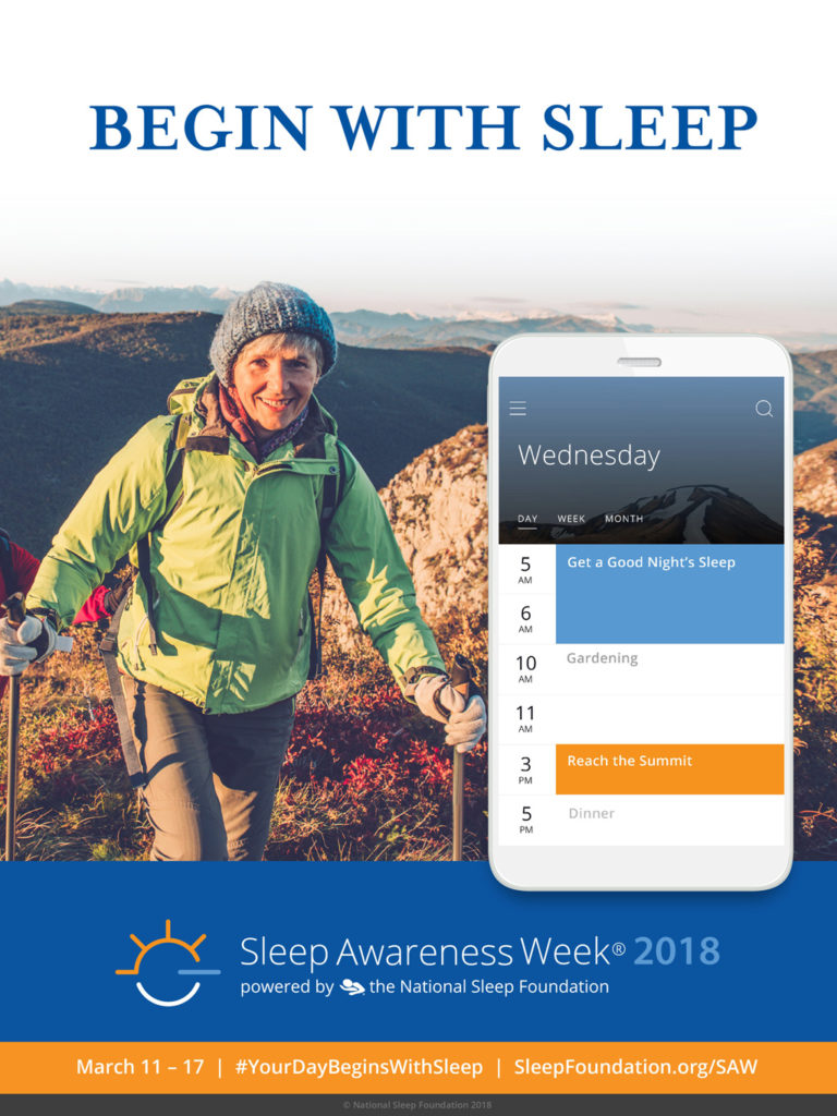 Sleep Awareness Week 2018 is March 11 to 17 - natural organic mattresses