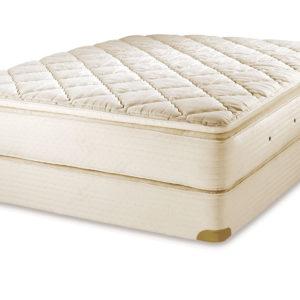 Royal-Pedic Organic Cotton with Wool Wrap Mattress shown with Royal-Pedic 2in.Organic Pillowtop Pad