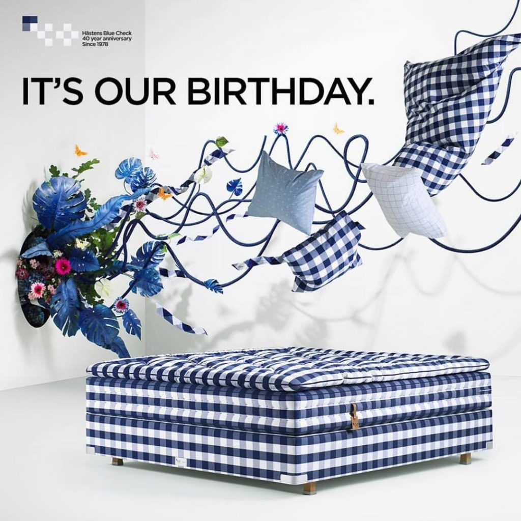 BUT YOU GET ALL THE AMAZING GIFTS! Our iconic blue check is turning 40. To celebrate, you'll receive amazing gifts when you choose a bed in the strictly limited BLUE CHECK ANNIVERSARY EDITION. Offer valid while stocks last, call us 404.788.3282.