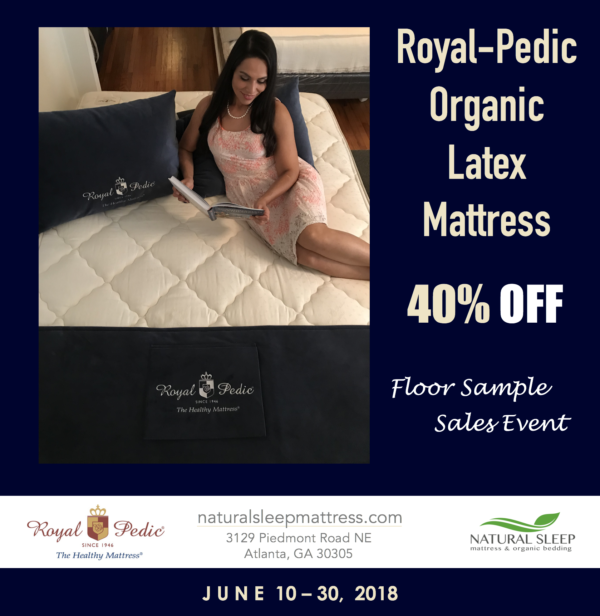 More savings to pass on to you while you shop for your Father! Let everyone know, 40% OFF Royal-Pedic's Queen Super Cloud Mattress! Call our showroom 404-788-3282